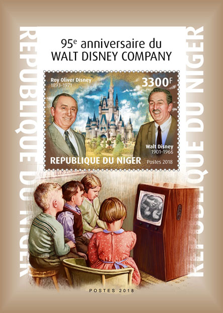 Walt Disney Company - Issue of Niger postage stamps