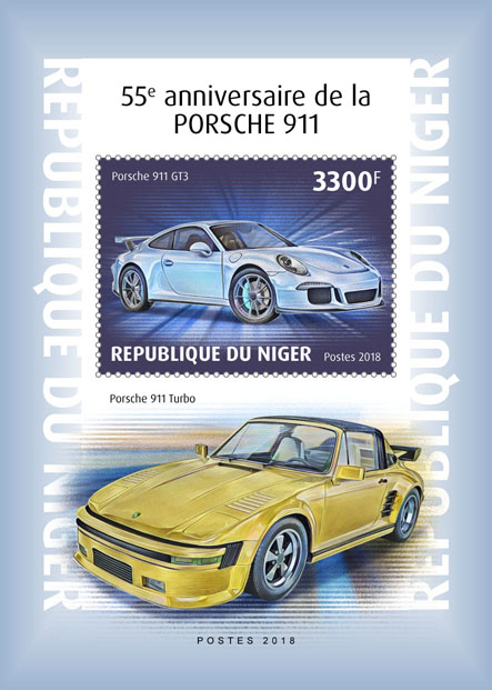 Porsche 11 - Issue of Niger postage stamps