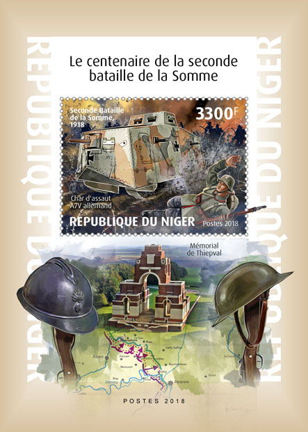 Second battle of Somme - Issue of Niger postage stamps