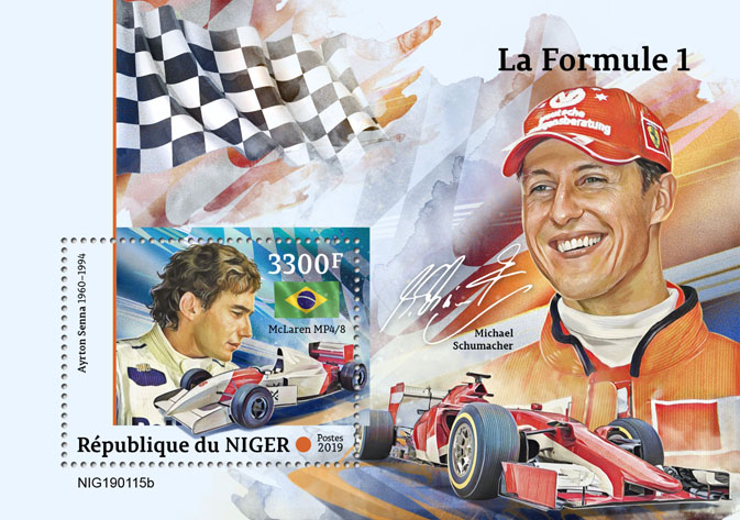 Formula 1 - Issue of Niger postage stamps