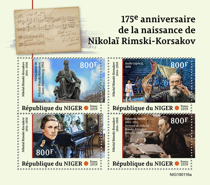 Nikolai Rimsky-Korsakov - Issue of Niger postage stamps
