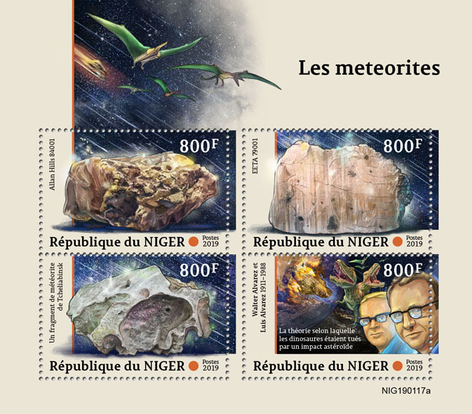 Meteorites - Issue of Niger postage stamps