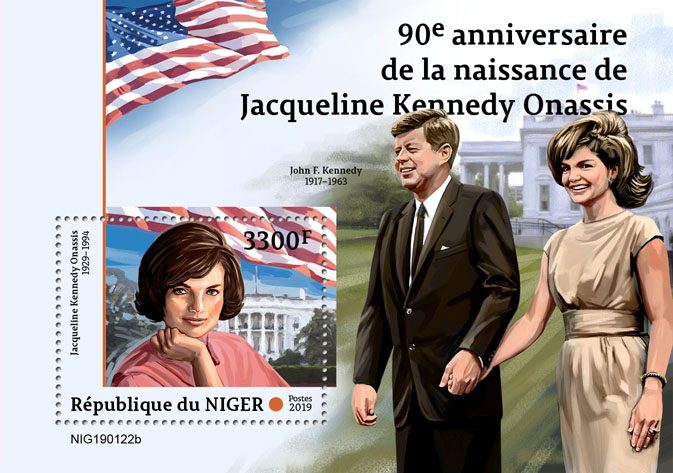 Jacqueline Kennedy Onassis - Issue of Niger postage stamps
