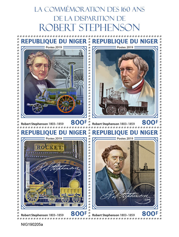 Robert Stephenson - Issue of Niger postage stamps