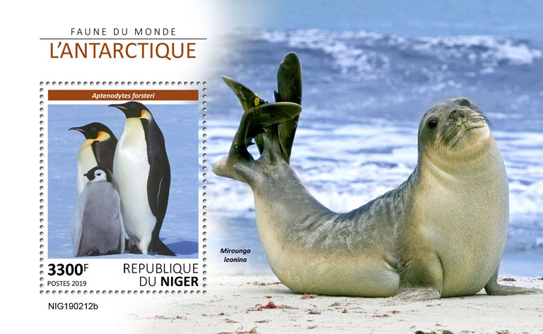 Antarctic - Issue of Niger postage stamps