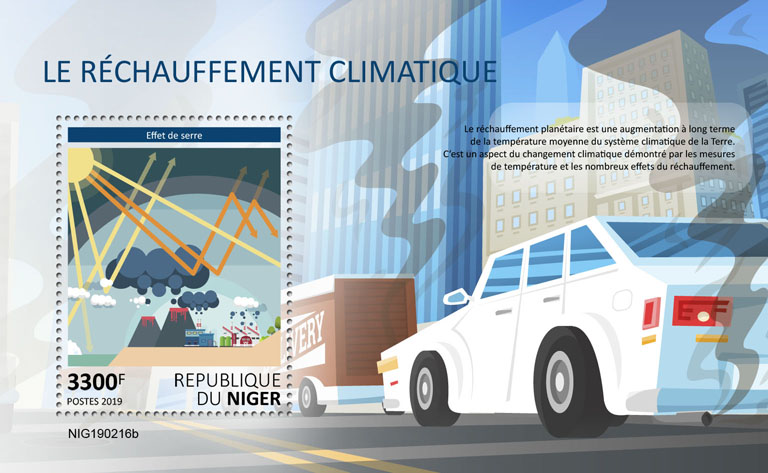 Climate change - Issue of Niger postage stamps