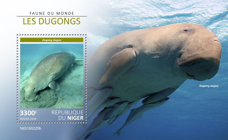 Dugongs - Issue of Niger postage stamps