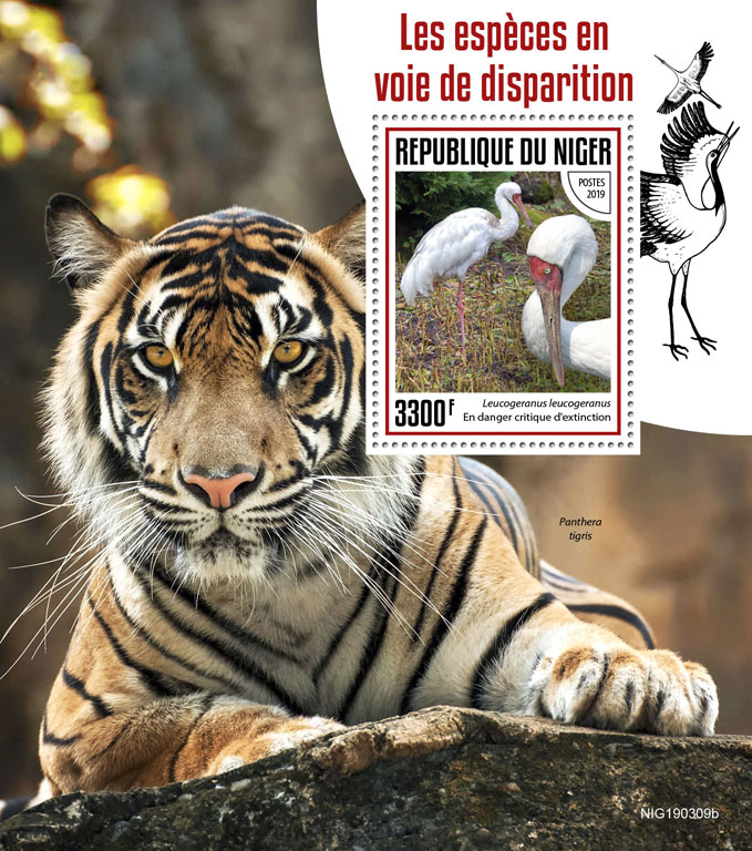 Endangered species - Issue of Niger postage stamps