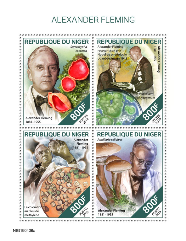 Alexander Fleming - Issue of Niger postage stamps