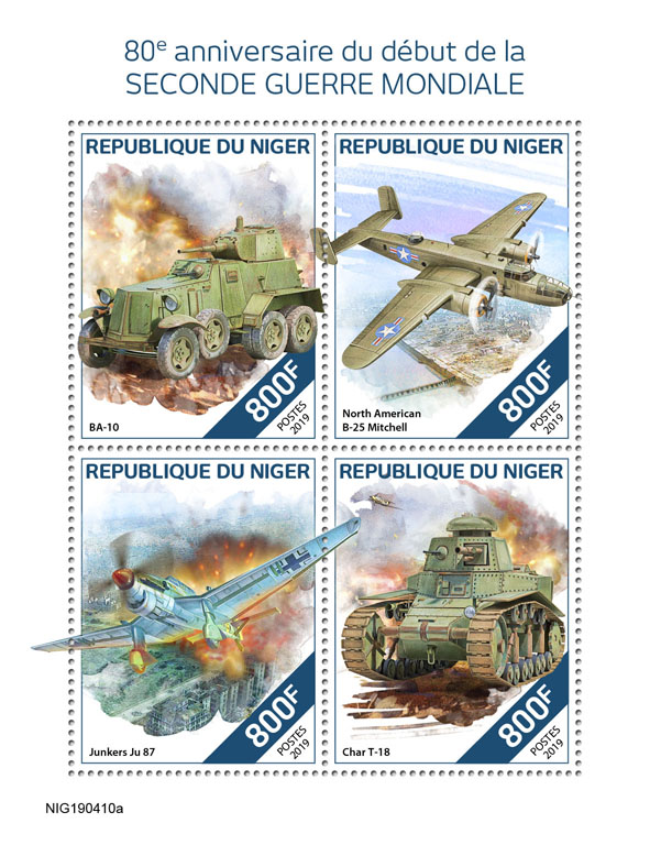 World War II - Issue of Niger postage stamps