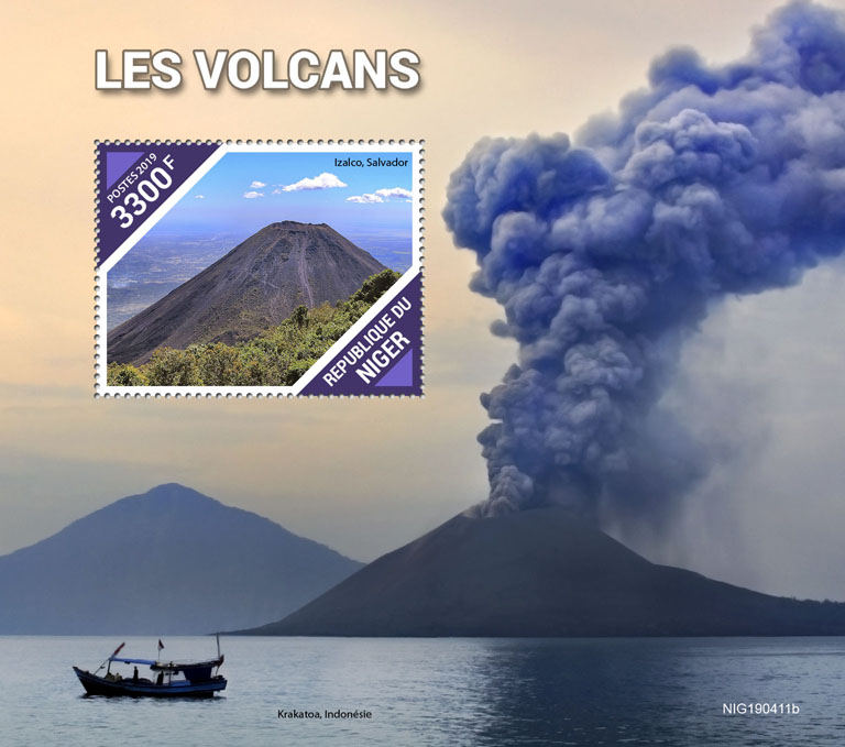Volcanoes - Issue of Niger postage stamps