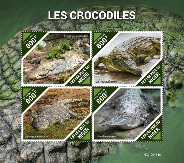 Crocodiles - Issue of Niger postage stamps