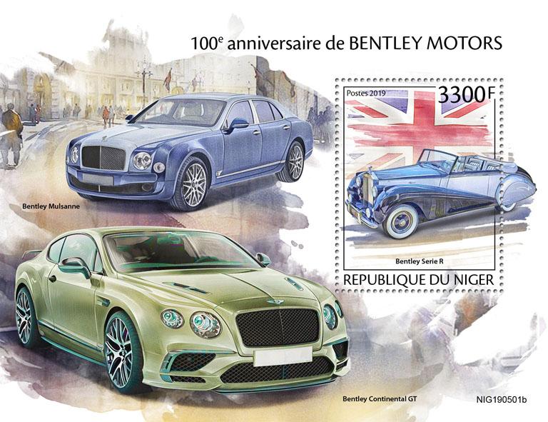Bentley Motors - Issue of Niger postage stamps