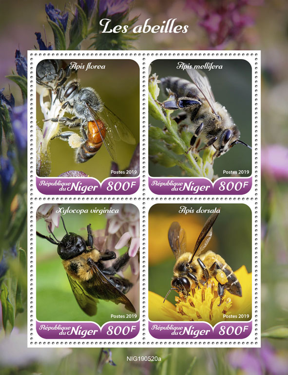 Bees - Issue of Niger postage stamps