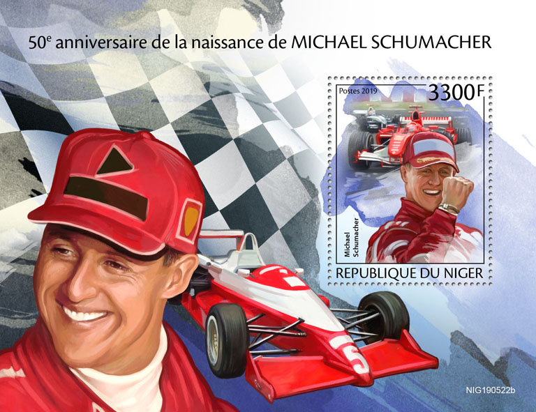 Michael Schumacher  - Issue of Niger postage stamps