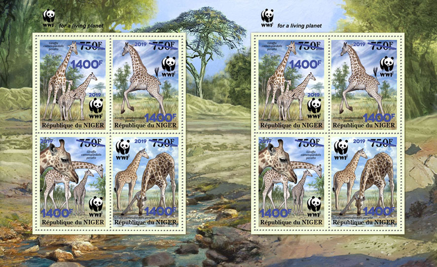 WWF overprint - Issue of Niger postage stamps